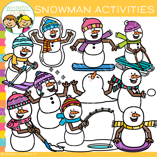 Snowman Activities Clip Art