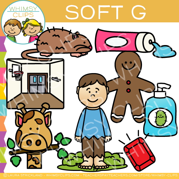 Soft G Words Clip Art