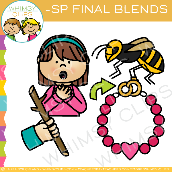 Ending Blends - SP Words Clip Art