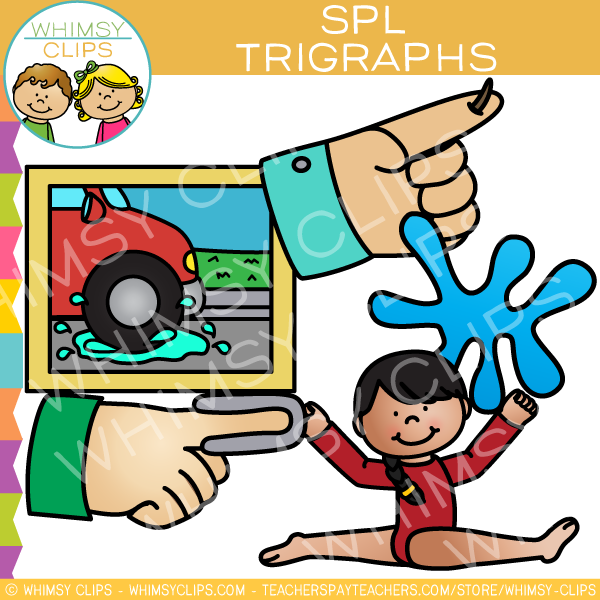 Beginning Trigraphs  Clip Art - SPL Words