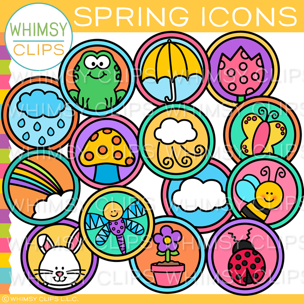 Spring Icons Clip Art