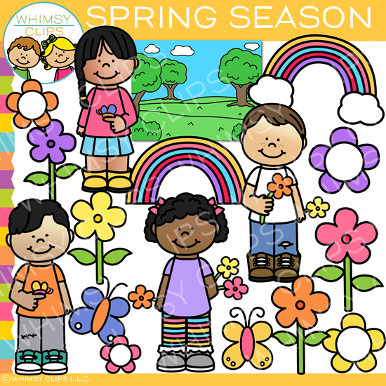 Spring Season Kids Clip Art