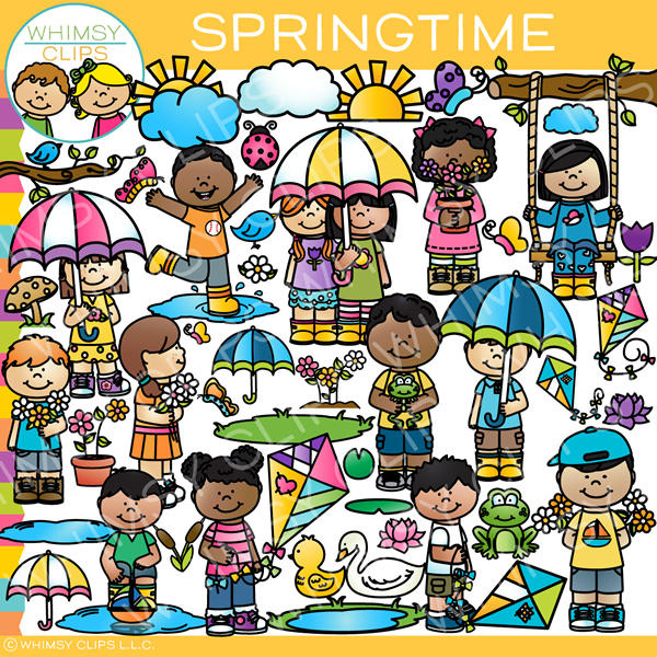 Spring activities clip art , Images & Illustrations ...