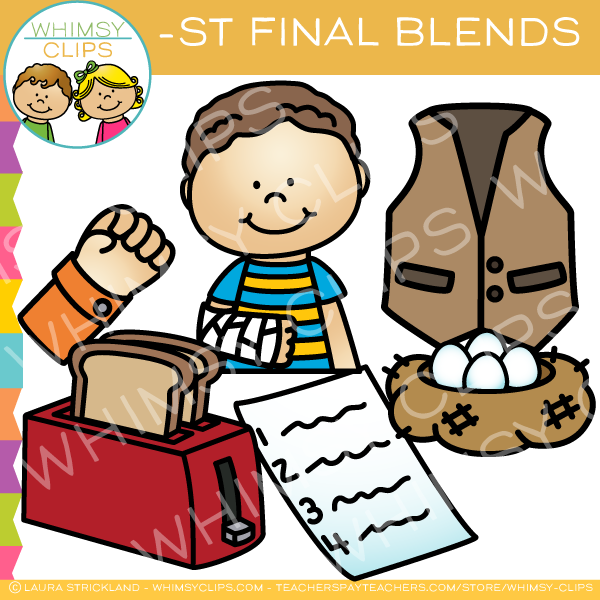 Ending Blends - ST Words Clip Art