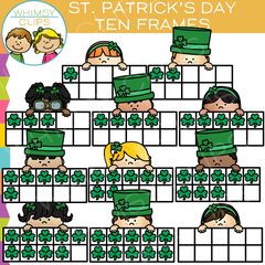 Saint Patrick's Day Ten Frames Clip Art