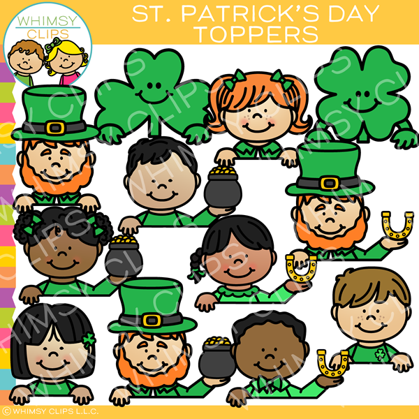 St. Patrick's Day Toppers Clip Art