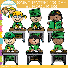 Saint Patrick's Day School Kids Clip Art