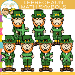 Leprechaun Math Symbols Clip Art