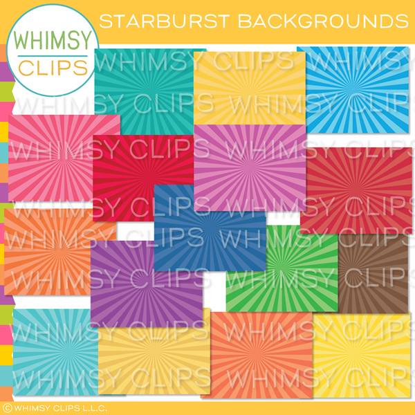 Bright Starburst Backgrounds