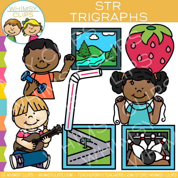 Beginning Trigraphs  Clip Art - STR Words