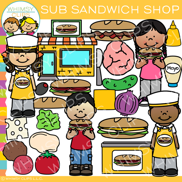 Sub Sandwich Shop Clip Art