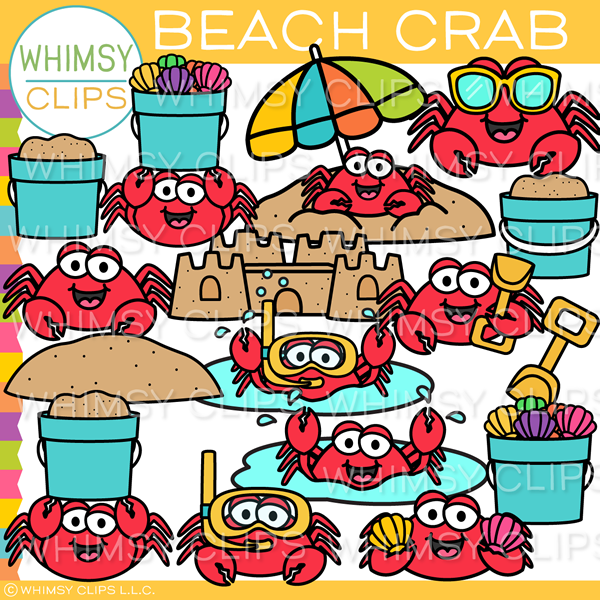 Summer Beach Crab Clip Art