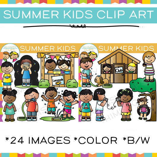 Summer Kids Clip Art