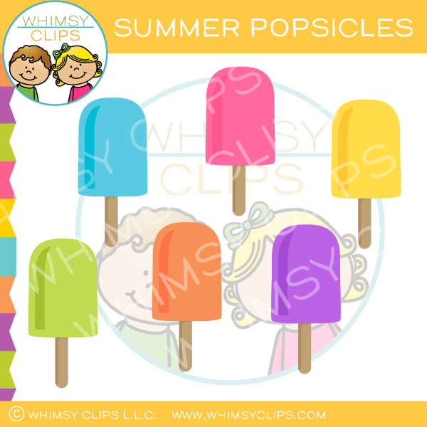 Summer Popsicles Clip Art