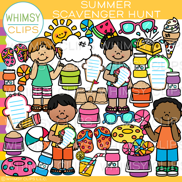Summer Scavenger Hunt Clip Art