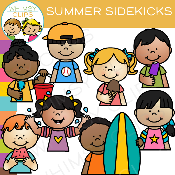 Summer Sidekicks Clip Art