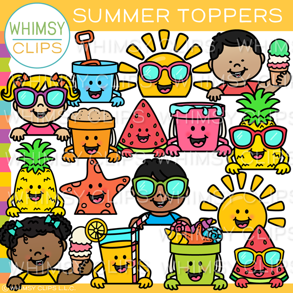 Summer Toppers Clip Art