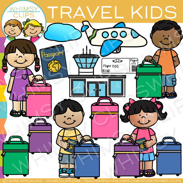 Kids Travel Clip Art