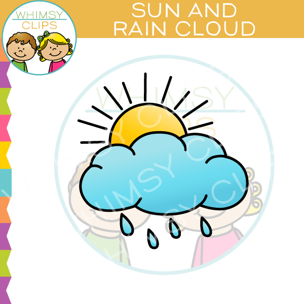 Sun And Rain Cloud Clip Art