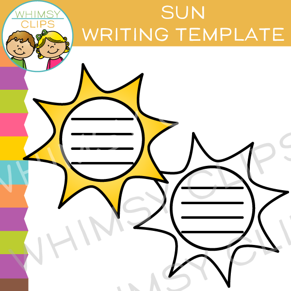 Sun Writing Template Clip Art