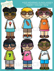 Kids Wearing Sunglasses Clip Art