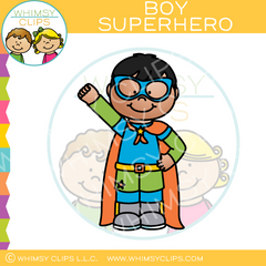 Boy Superhero Clip Art