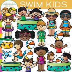Swim Kids Clip Art