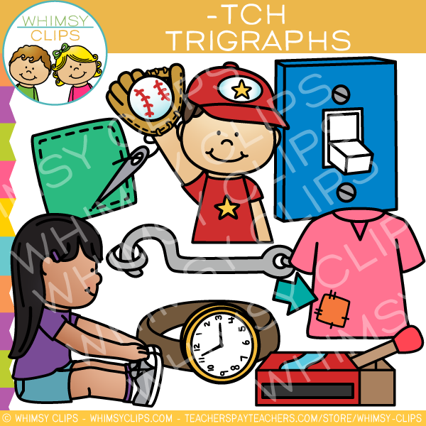 Ending Trigraph Clip Art -TCH Words