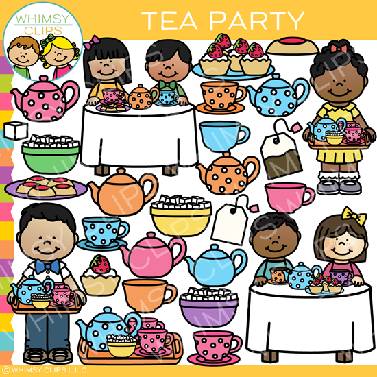 Kids Tea Party Clip Art