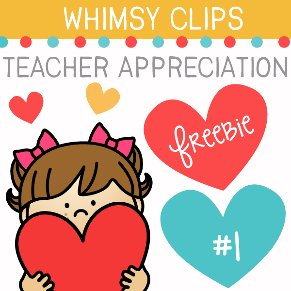 Teacher Appreciation Freebie Clip Art