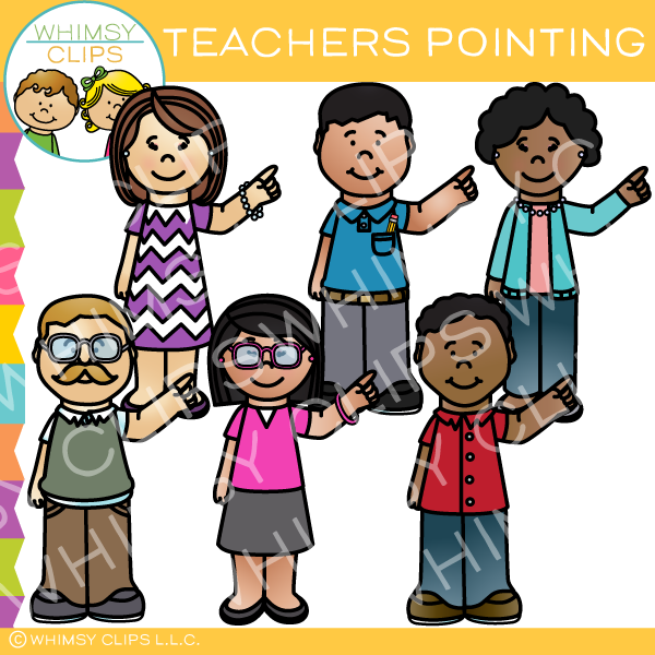 Teachers Pointing Clip Art