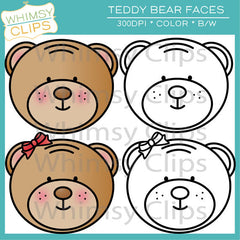 Free Teddy Bear Faces Clip Art