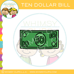 Plain Ten Dollar Bill Clip Art