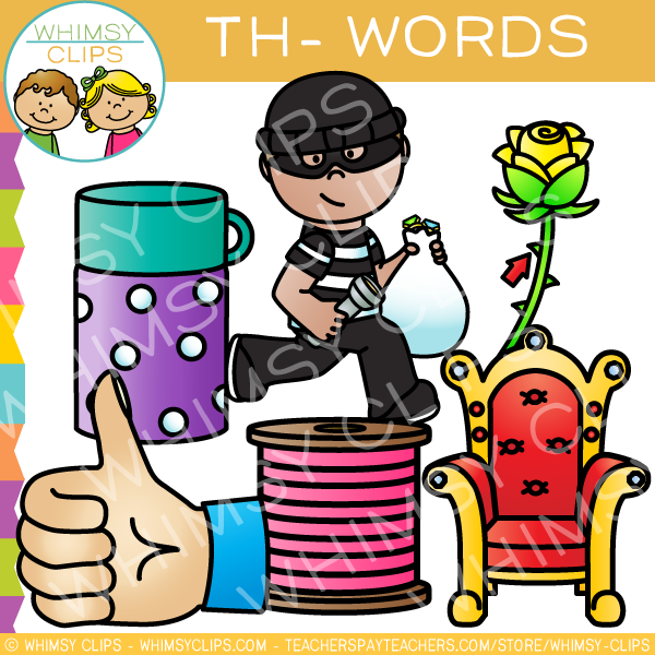 Digraphs Th- Words Clip Art