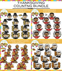 Thanksgiving Counting Clip Art