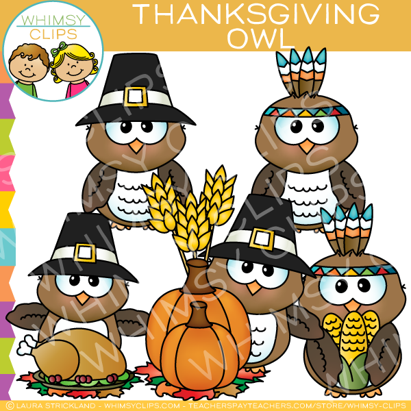 Thanksgiving Owl Clip Art