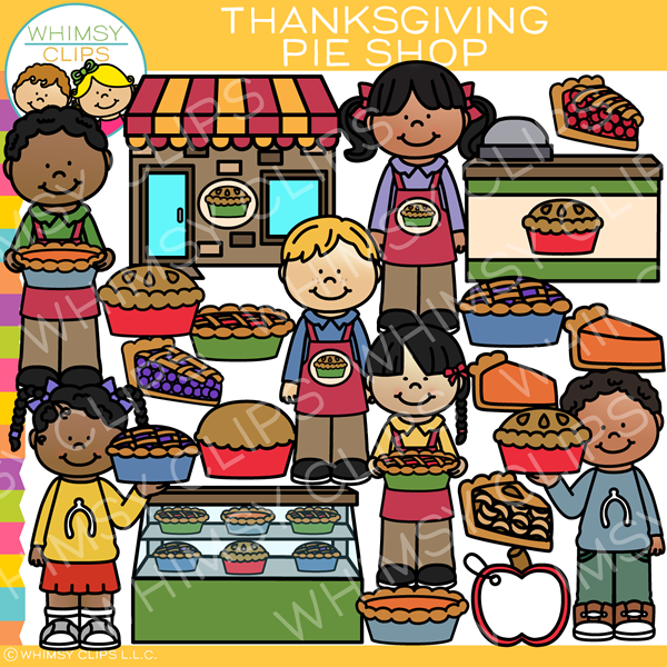Thanksgiving Pie Shop Clip Art