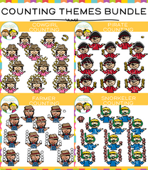 Theme Counting Clip Art Bundle
