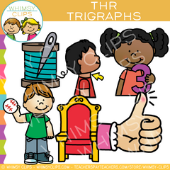 Beginning Trigraphs  Clip Art - THR Words