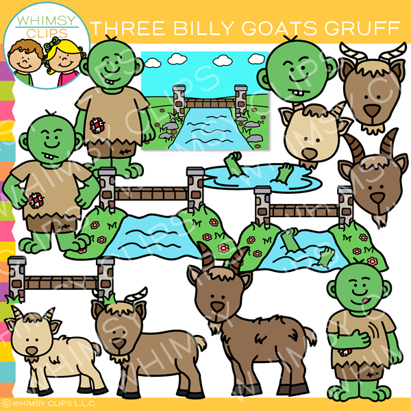 Three Billy Goats Gruff Clip Art