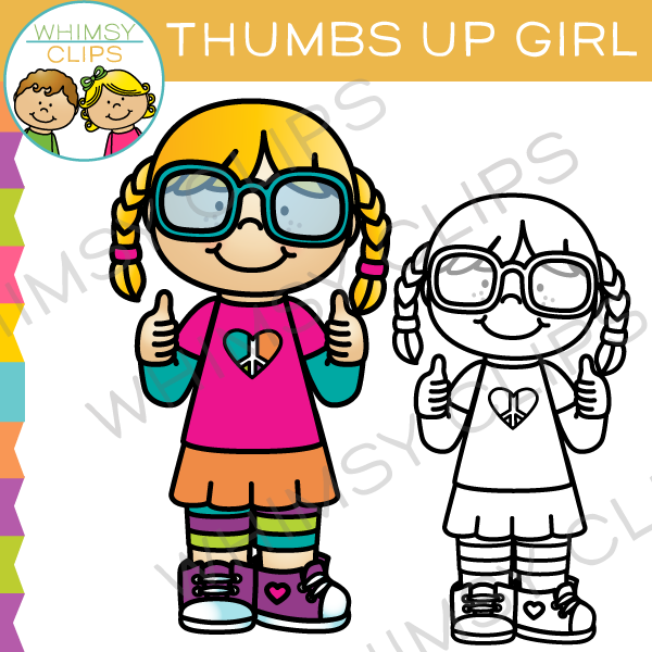 Thumbs Up Girl Clip Art