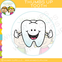 Thumbs Up Tooth Clip Art