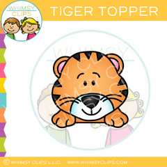 Page Topper Tiger Clip Art