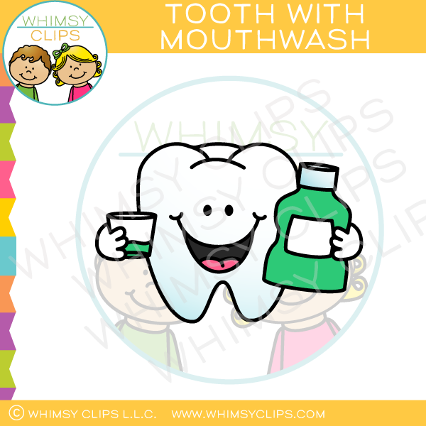 Tooth With Mouthwash Clip Art