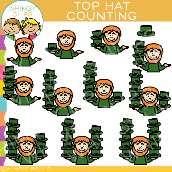 Top Hat Counting Clip Art
