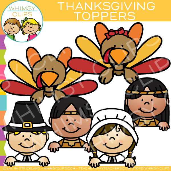 Thanksgiving Page Toppers Clip Art