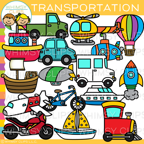 Air, Land, and Sea Transportation Clip Art