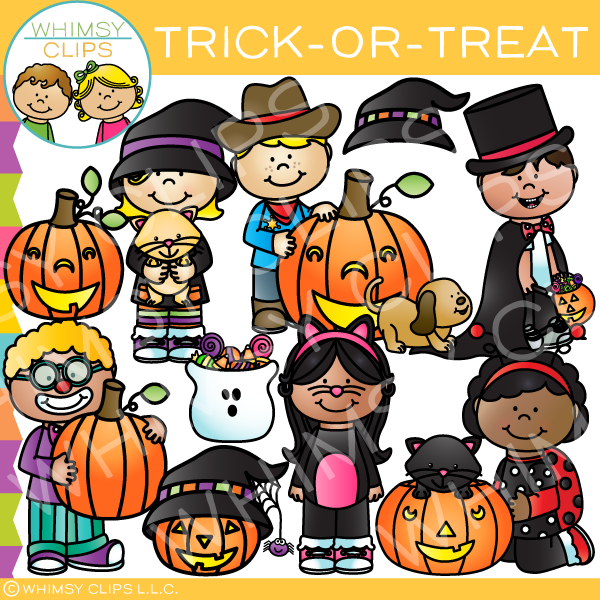 Trick-or-Treat Clip Art