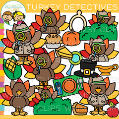 Turkey Detective Clip Art