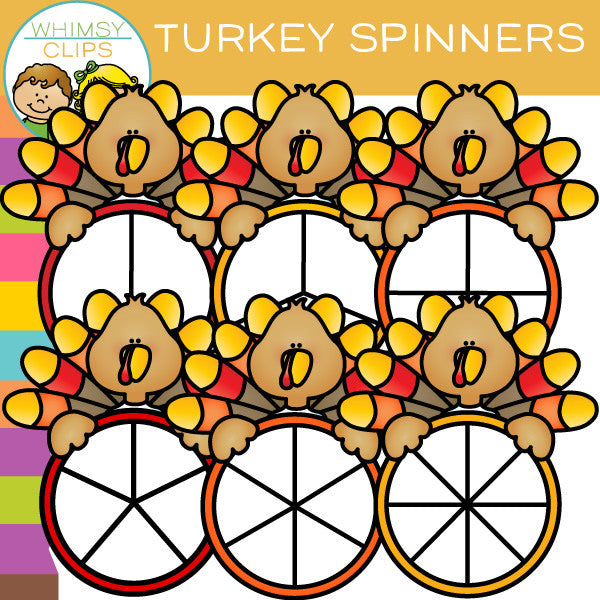 FREE Turkey Spinners Clip Art